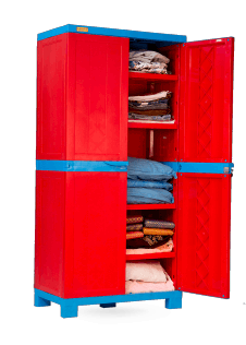 Liberty Cabinet Big - RED/CYB Wooden Finish