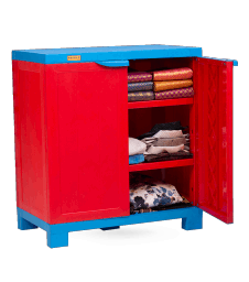 Liberty Cabinet Small - RED/CYB Wooden Finish