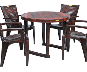 Calicut Dining Table (RWD) and Baleno Dining Chairs (RWD) Combo Dining Set