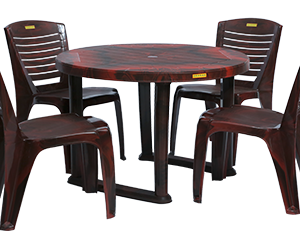 Calicut Dining Table (RWD) and Crysta Dining Chairs (RWD) Combo Dining Set
