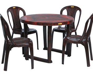 Calicut Dining Table (RWD) and Polo Dining Chairs (RWD) Combo Dining Set
