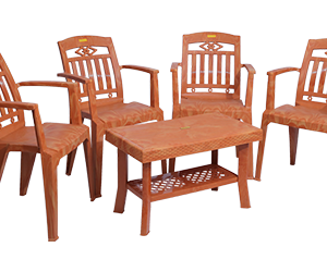 Buggati Premium Chair (PWD) and Fortuner Center Table (PWD) Premium Chairs Garden Chairs Combo