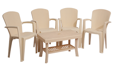Impreza Premium Chair (MBG) and Fortuner Center Table (MBG) Premium Chairs Garden Chairs Combo