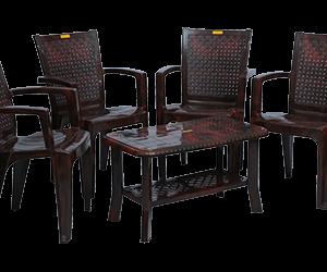 Baleno Premium Chair (RWD) and Innova Center Table (RWD) Premium Chairs Garden Chairs Combo