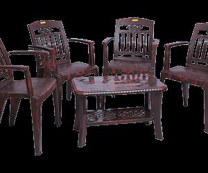Buggati Premium Chair (RWD) and Innova Center Table (RWD) Premium Chairs Garden Chairs Combo
