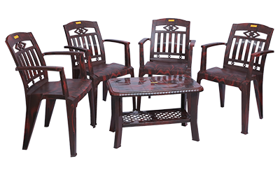 Buggati Premium Chair (RWD) and Innova Center Table (RWD) Premium Chairs Garden Chairs Combo