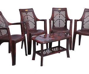 Porsche Premium Chair (RWD) and Innova Center Table (RWD) Premium Chairs Garden Chairs Combo