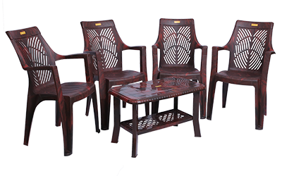 Porsche Premium Chair (RWD) and Innova Center Table (RWD) Premium Chairs Garden Chairs Combo