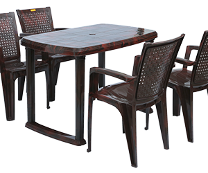 Mangalore Dining Table (RWD) and Baleno Dining Chairs (RWD) Combo Dining Set