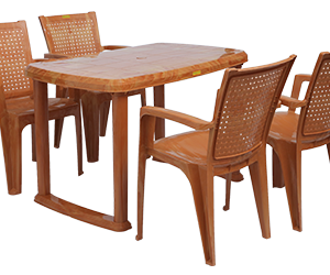 Mangalore Dining Table (PWD) and Baleno Dining Chairs (PWD) Combo Dining Set