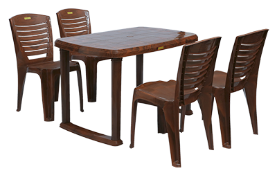 Mangalore Dining Table (MHG) and Crysta Dining Chairs (MHG) Combo Dining Set