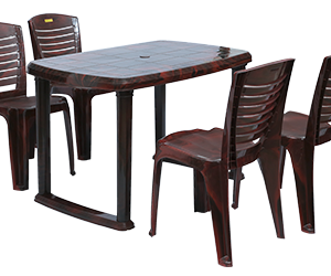 Mangalore Dining Table (RWD) and Crysta Dining Chairs (RWD) Combo Dining Set