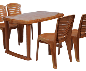 Mangalore Dining Table (PWD) and Crysta Dining Chairs (PWD) Combo Dining Set