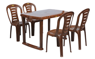 Mangalore Dining Table (MHG) and Figo Dining Chairs (MHG) Combo Dining Set
