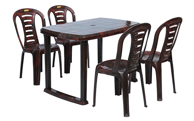 Mangalore Dining Table (RWD) and Figo Dining Chairs (RWD) Combo Dining Set