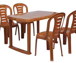 Mangalore Dining Table (PWD) and Figo Dining Chairs (PWD) Combo Dining Set