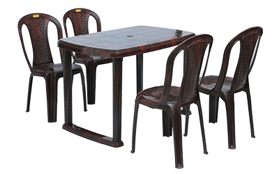 Mangalore Dining Table (RWD) and Polo Dining Chairs (RWD) Combo Dining Set