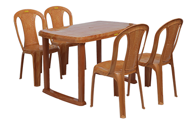 Mangalore Dining Table (PWD) and Polo Dining Chairs PWD Combo Dining Set