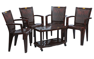 Baleno Premium Chair (RWD) and Swift Center Table (RWD) Premium Chairs Garden Chairs Combo