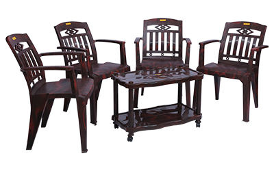 Buggati Premium Chair (RWD) and Swift Center Table (RWD) Premium Chairs Garden Chairs Combo