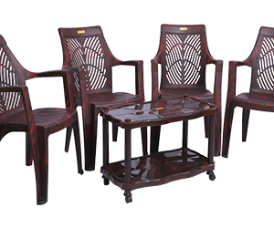 Porsche Premium Chair (RWD) and Swift Center Table (RWD) Premium Chairs Garden Chairs Combo